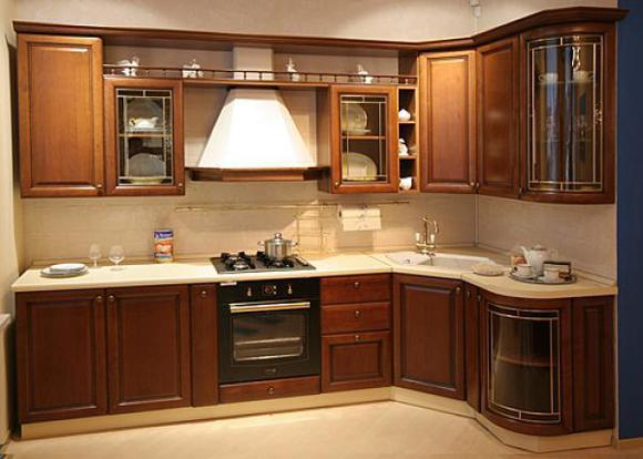 Вид кухни на заказ стоимостью 142000 рублей. Фасад из МДФ